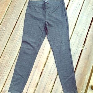 Grey plaid leggings size 8